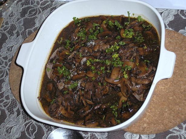 Roast Veal With Red Wine Mushroom Sauce