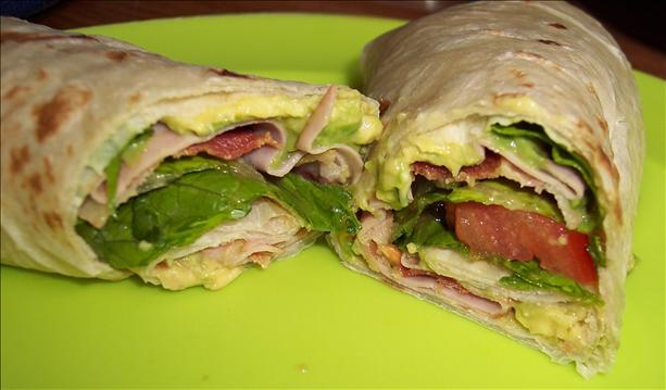 Turkey, Bacon & Guacamole Wrap