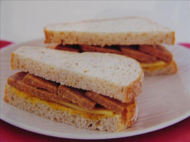 Cheese Sausage and Pickle Sandwich