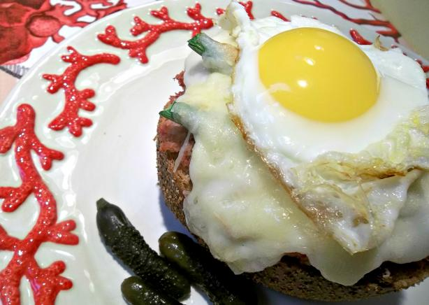 Rachael Ray's Deviled Ham Croque Madame