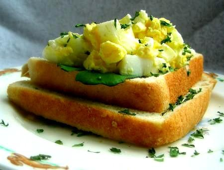 Egg Salad - Either As a Salad or on Toasted Bread
