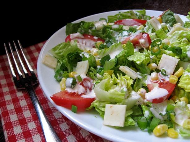 Chopped Salad With Spicy Buttermilk Dressing