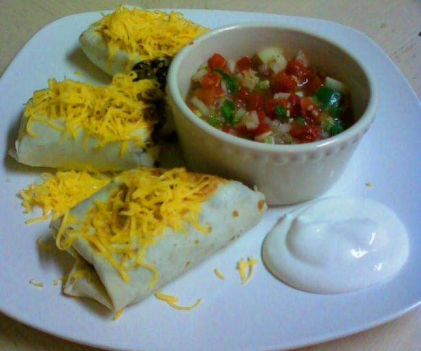 Southwestern Chicken and Black Bean Burritos