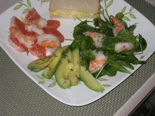 Avocado, Prawn / Shrimp & Pink Grapefruit Salad - for Two 2