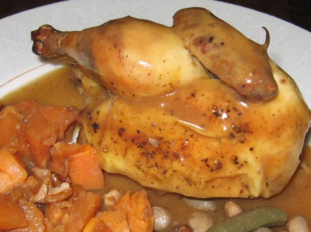 Marjoram Chicken (Or Hens) in White Wine Sauce