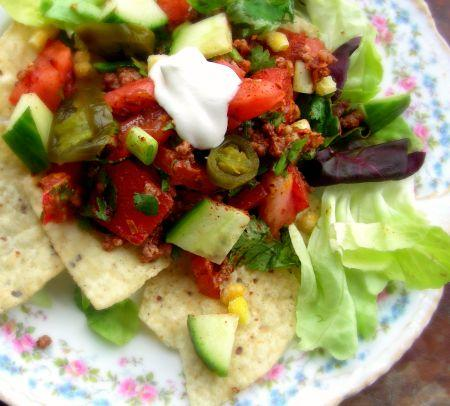 Vegetarian Taco Salad - Low Fat