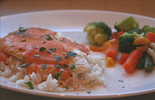 Red Snapper With Red Curry Carrot Sauce for Two