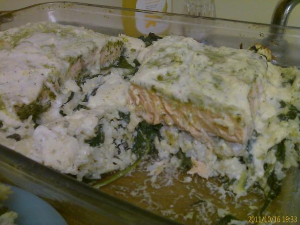 Salmon Basmati Rice Bake