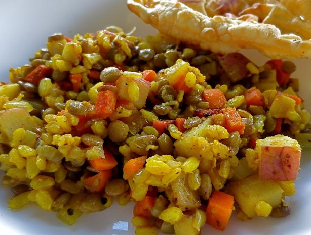 Rice and Lentil Pilaf - Indian Style