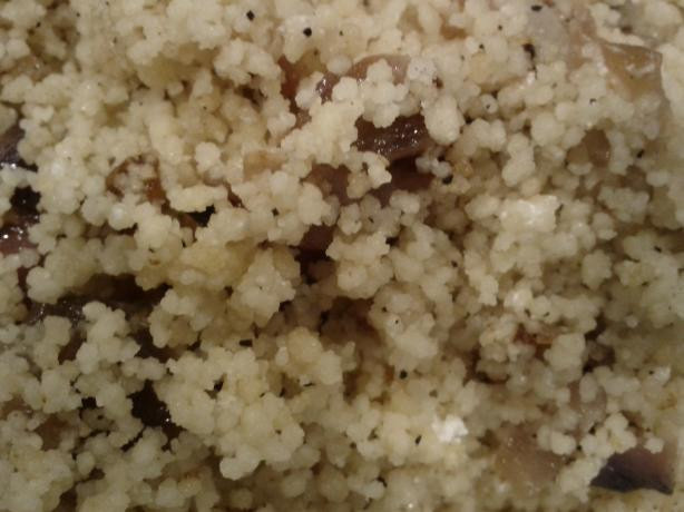 Couscous With Caramelized Onions and Goat Cheese