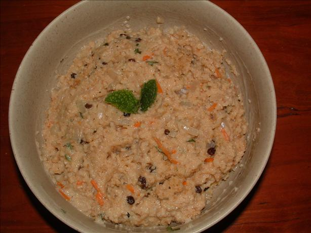 Couscous With Mint-Yogurt Sauce
