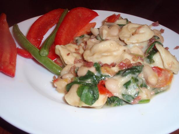 Beans, Bow Ties, Spinach & Cheese