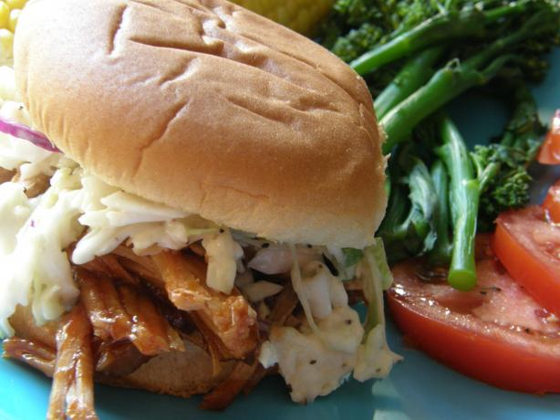 Ww BBQ Pork Sandwiches With Homemade Cole Slaw