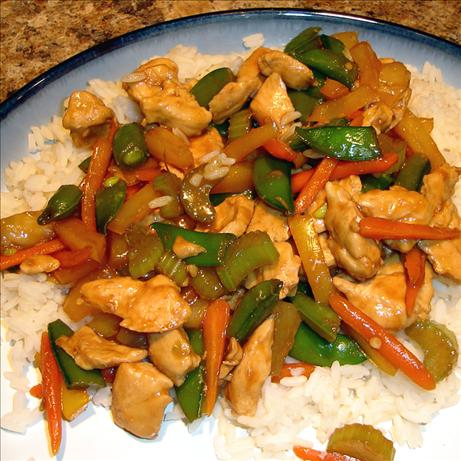 Healthier Sweet and Sour Chicken Stir Fry