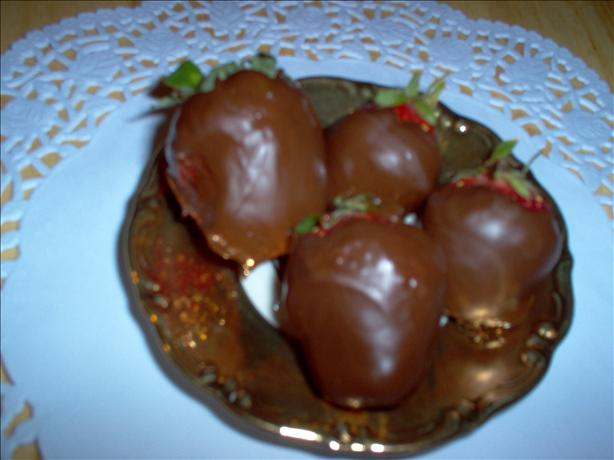 Injected Chocolate Covered Strawberries With Grand Marnier