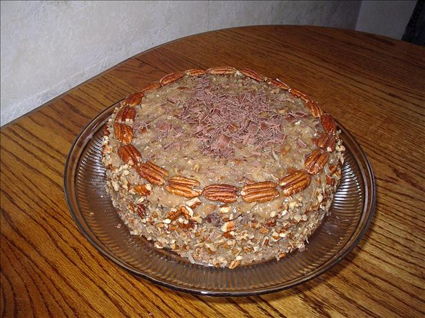 German Chocolate Layer Cake With Coconut Pecan Frosting