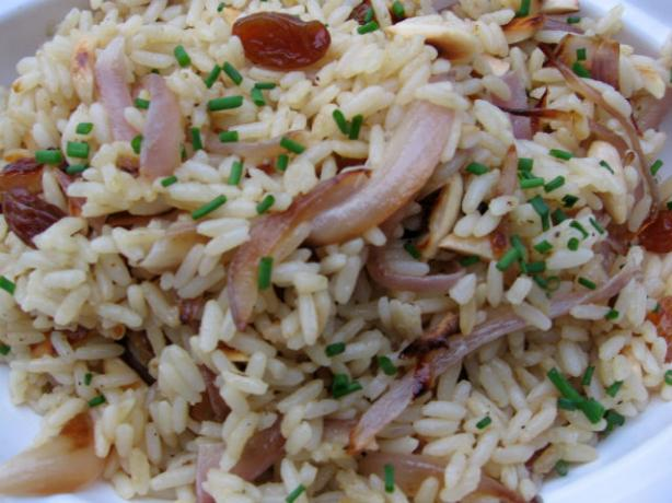 Curry Rice Indienne With Raisins & Almonds
