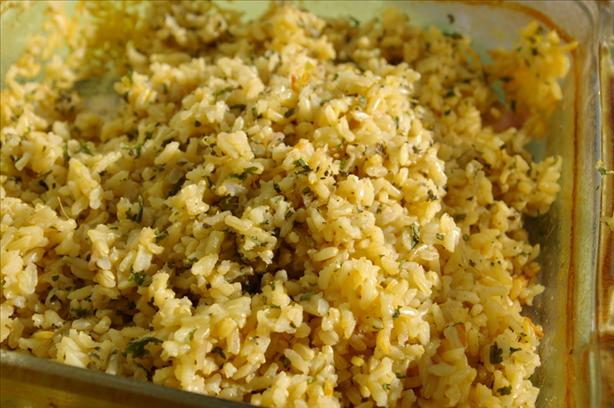 Parmesan Lemon Herb Brown Rice
