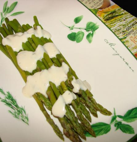 Asparagus With Mustard Dill Sauce