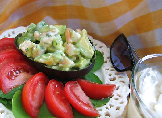 Crab-Stuffed Avocado Half-Shells