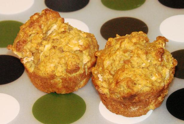 Chunky Apple Molasses Muffins