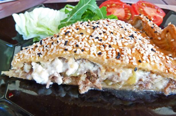 Cretan Meat Pie (Kreatotourta)