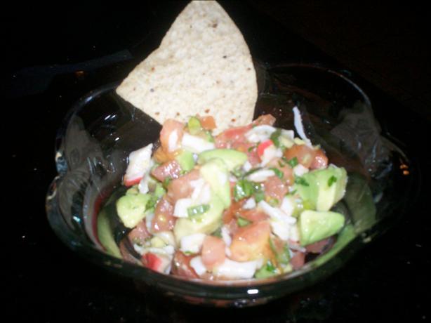 Southwestern Crab Salad Salsa Dip