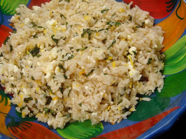 Feta and Mint Rice