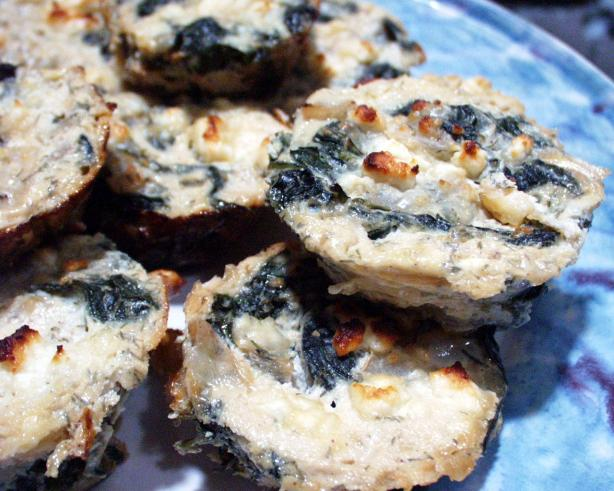 Mini Spinach and Cottage Cheese Pies