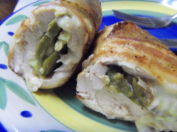 Roasted Jalapeno & Cheese Stuffed Bacon Wrapped Chicken
