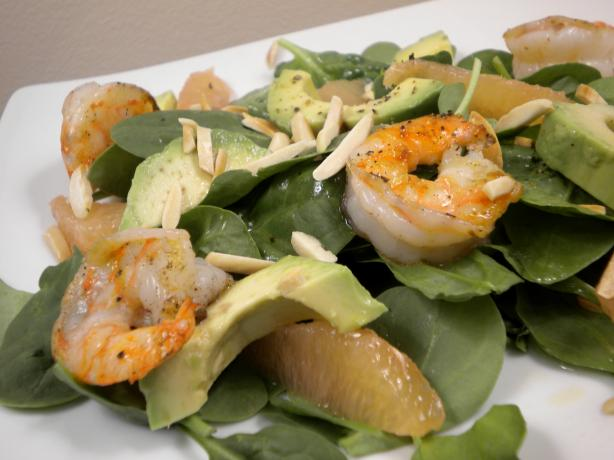 Shrimp and Avocado Salad With Grapefruit Vinaigrette