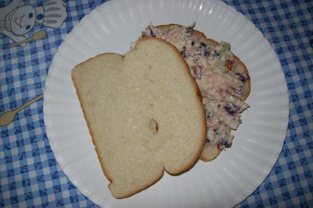 Cranberry-Almond Chicken Salad Sandwich