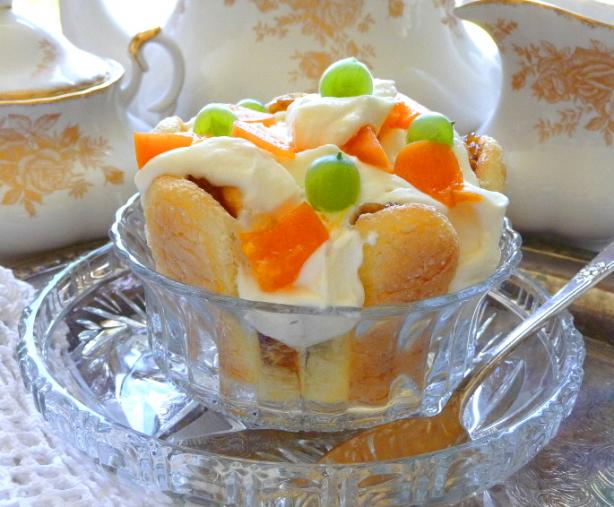 Apricot Gooseberry Layered Trifle Dessert With Mascarpone Cream