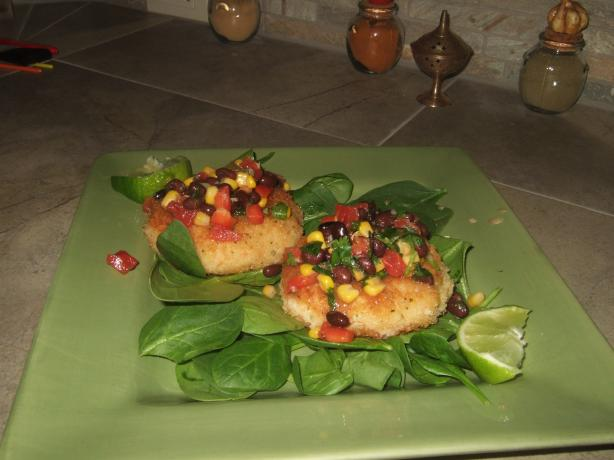 Shrimp Cakes With a Black Bean and Corn Salsa