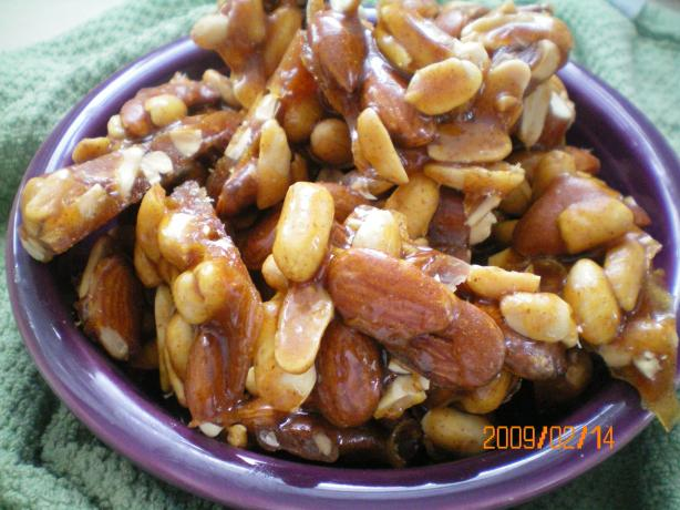 Hot and Sweet Nut Brittle