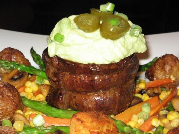 Beef Steak With Avocado Sauce