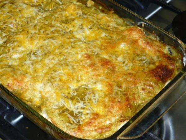 Spicy Chicken and Hazelnut Enchiladas
