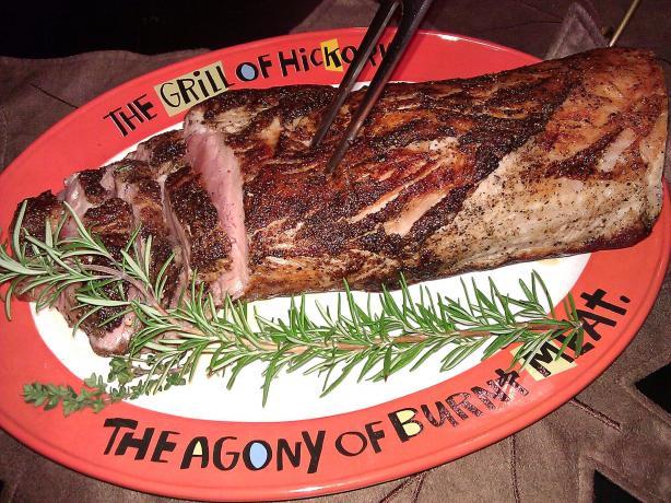 Garlic Herb Grilled Pork Tenderloin