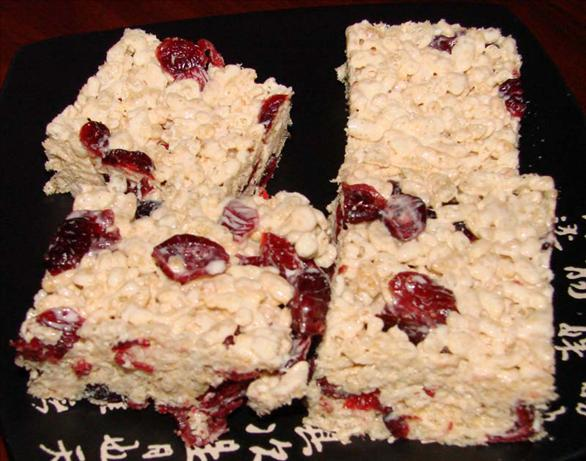 Cranberry Rice Krispies Squares