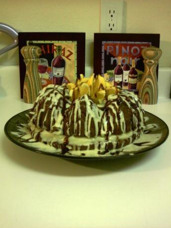 Chocolate Custard Cake With Butterscotch Orange Frosting