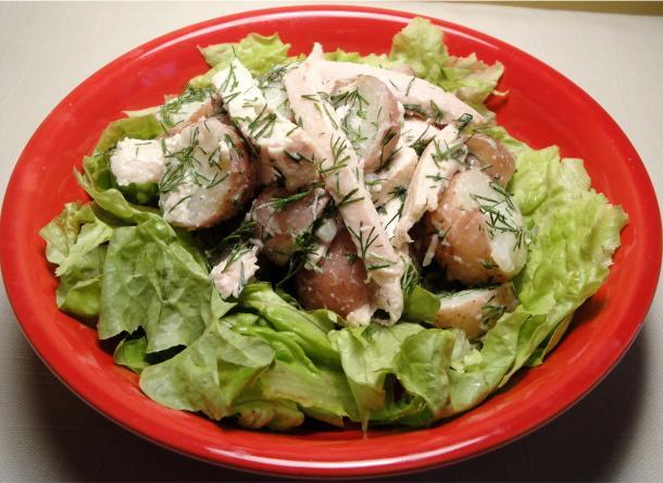 Garlic Chicken & Potato Salad