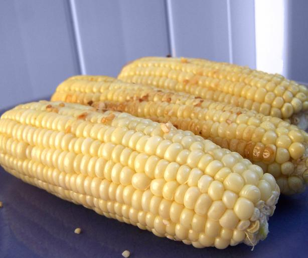 Baked Garlic Corn on the Cob
