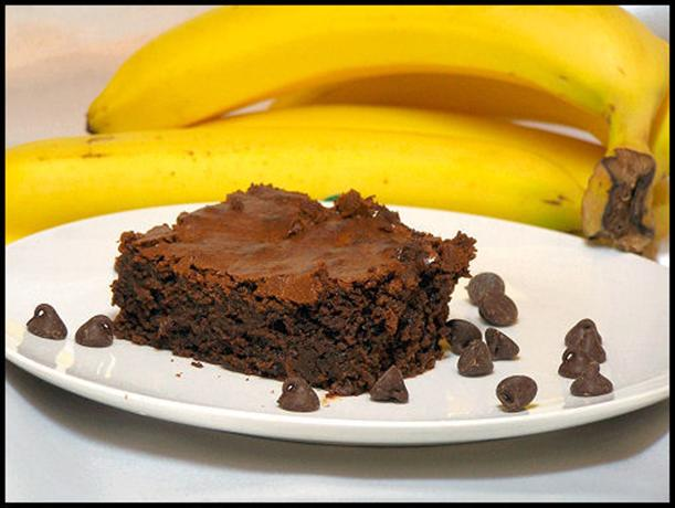 Banana Chocolate Chip Brownies