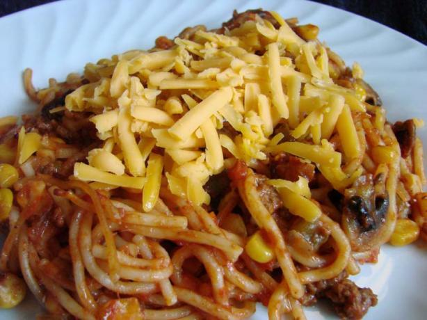 Spaghetti Beef Casserole Bake
