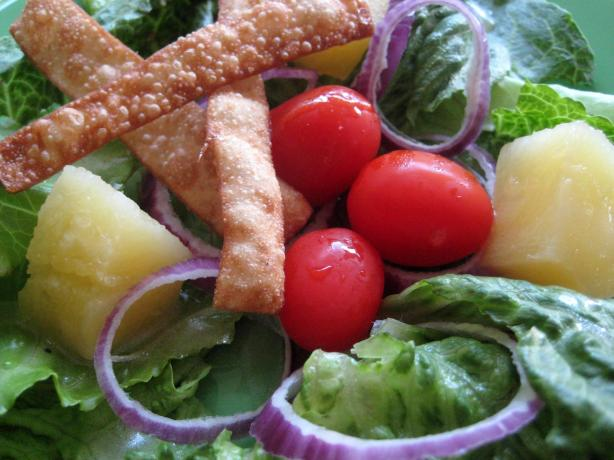 Asian Tossed Salad With Wonton Strips