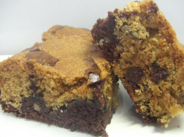 Quick and Easy Chocolate Chip Cookie Dough Brownies