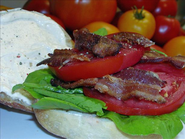 BLT With Smoked Bacon, Beefsteak Tomato, Arugula and Lemon Aioli