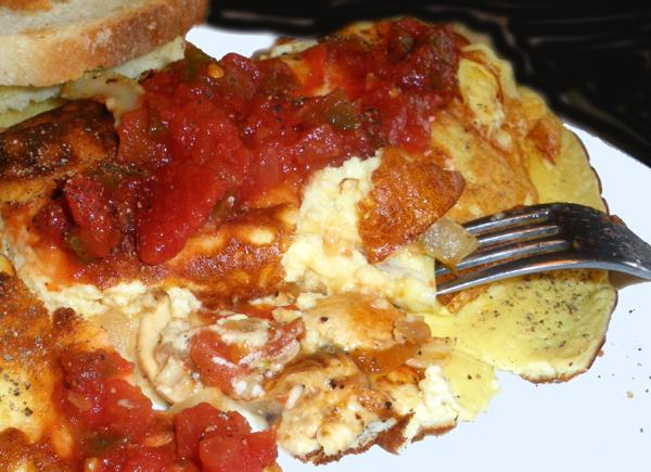 Tom's Veggie Stuffed 3-Egg Omelet