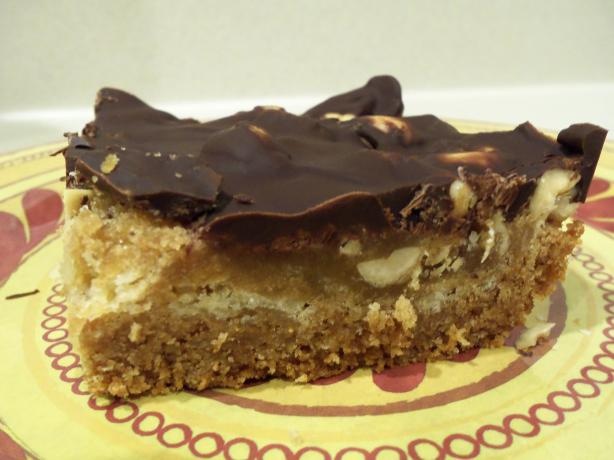 Chocolate Topped Peanut Toffee Bars (Cookie Mix)