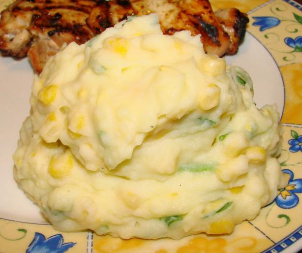 Mashed Potatoes With Corn and Chives